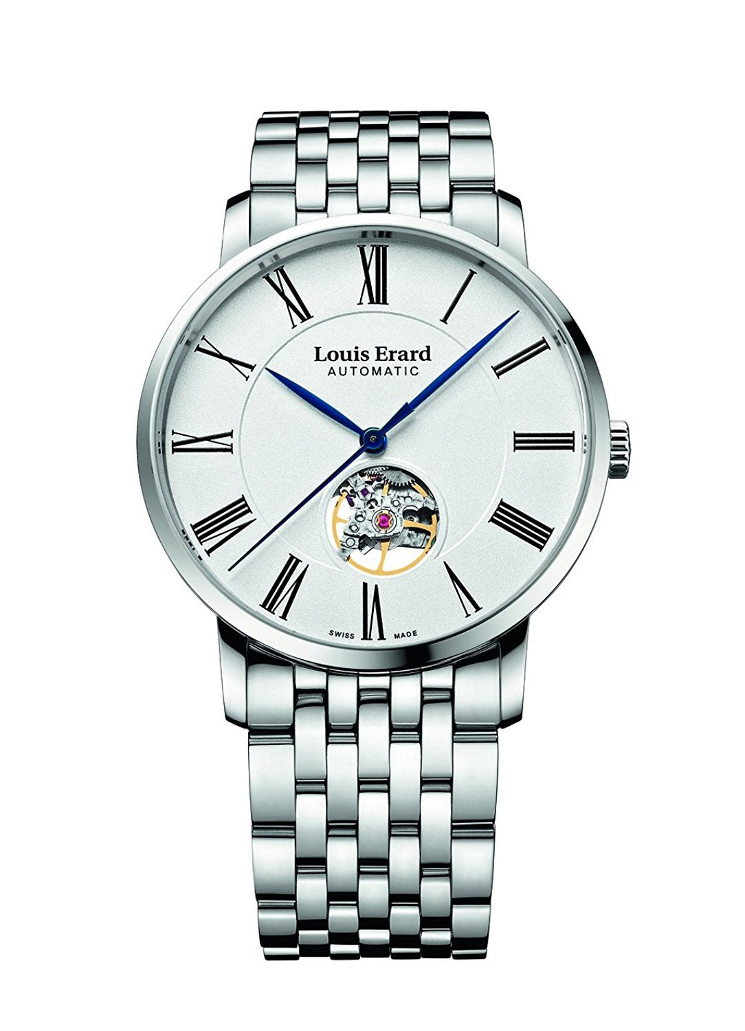 Louis Erard Excellence Swiss Automatic White Dial Women's Watch Open Balance 62233AA10.BMA35