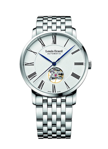 Louis Erard Excellence Collection Swiss Automatic White Dial Women's Watch With Open Balance 62233AA10.BMA35