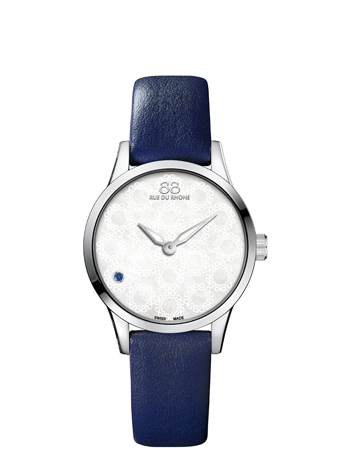 88 Rue du Rhone Swiss Quartz Watch Women 87WA163202 blue bracelet