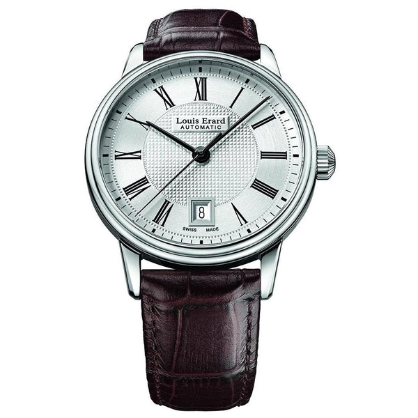 LOUIS ERARD MEN'S HERITAGE 40MM LEATHER BAND AUTOMATIC WATCH 69266AA21.BDC80
