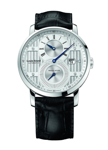 Louis Erard Excellence Swiss Automatic Selfwinding Silver Dial Men's Watch 86236AA01.BDC51