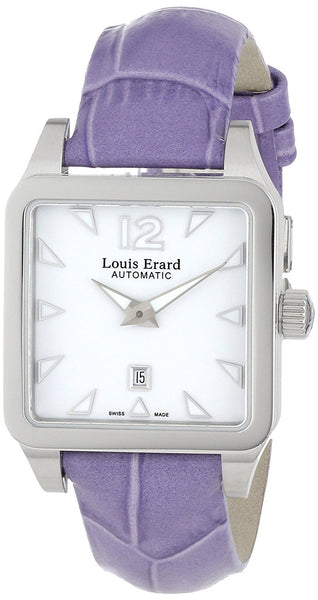 Louis Erard Women's 20700AA01.BDC63 Emotion Square Automatic Purple Leather Watch