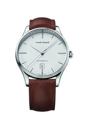 Louis Erard Men's Heritage Silver Dial 69287AA21 Veal Leather strap