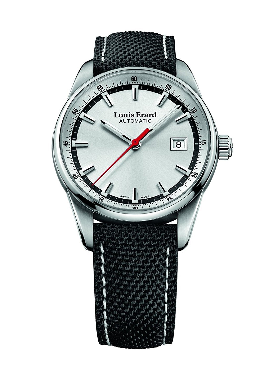 Louis Erard Heritage Collection Swiss Automatic Silver Dial Men's Watch 69105AA11 Nylon Bracelet