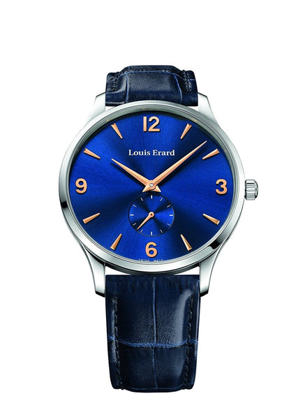 Louis Erard 1931 Collection Mechanical hand winding Blue Dial Men's Watch 47217AA15.BEP03