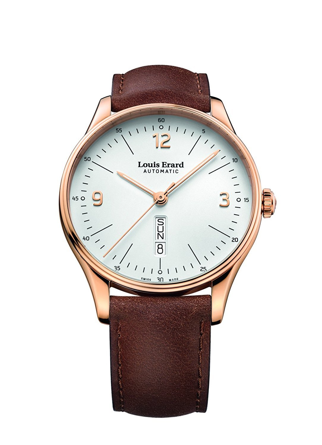 Louis Erard Men's Heritage White Dial 72288PR11 Veal Leather strap