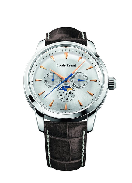Louis Erard Heritage Collection Swiss Quartz 14910AA11 Silver Dial Men's Watch