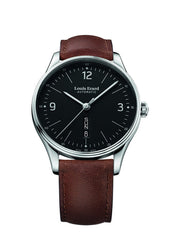 Louis Erard Men's Heritage Black Dial 72288AA02 Veal Leather strap