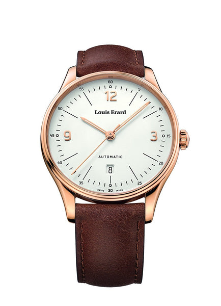 Louis Erard Men's Heritage White Dial 69287PR11 Veal Leather strap