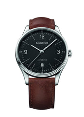 Louis Erard Men's Heritage Black Dial 69287AA02 Veal Leather strap