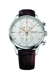 Louis Erard Men's Heritage Collection Silver Dial Chrono 78289AA31.BAAC80 Watch Brown Croco strap