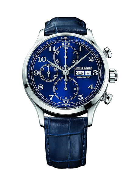 Louis Erard Men's 1931 Collection Blue Dial Chrono 78225AA25 Watch