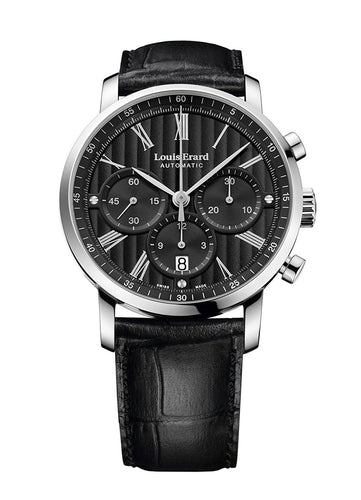 Louis Erard Excellence Collection Swiss Automatic Selfwinding Black Dial Men's Watch 71231AA02.BDC51 ...