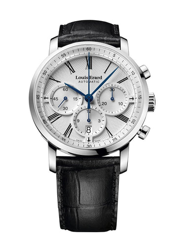 Louis Erard Excellence Swiss Automatic Selfwinding Silver Dial Men's Watch 71231AA31.BDC51