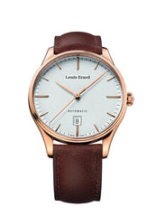 Louis Erard Men's Heritage Silver Dial 69287PR31 Veal Leather strap