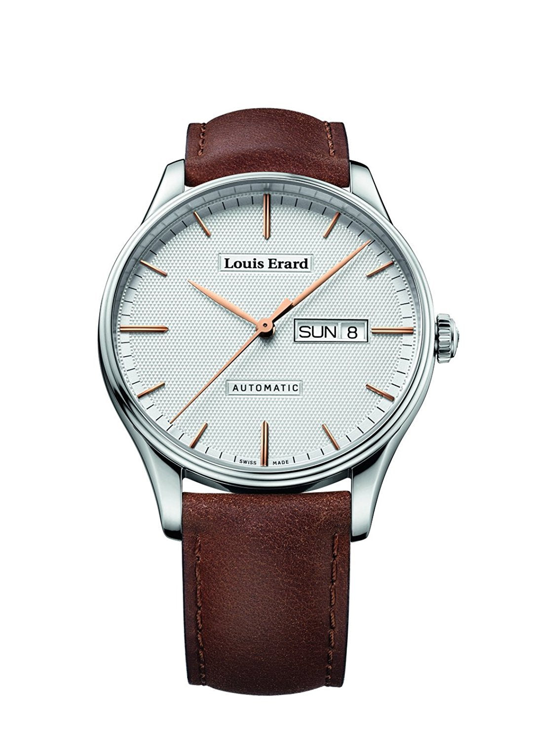 Louis Erard Men's Heritage Silver Dial 72288AA31 Veal Leather strap