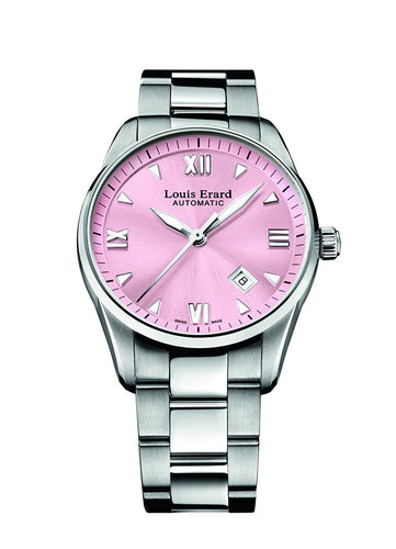 Louis Erard Heritage Collection Swiss Automatic Pink Dial Women's Watch