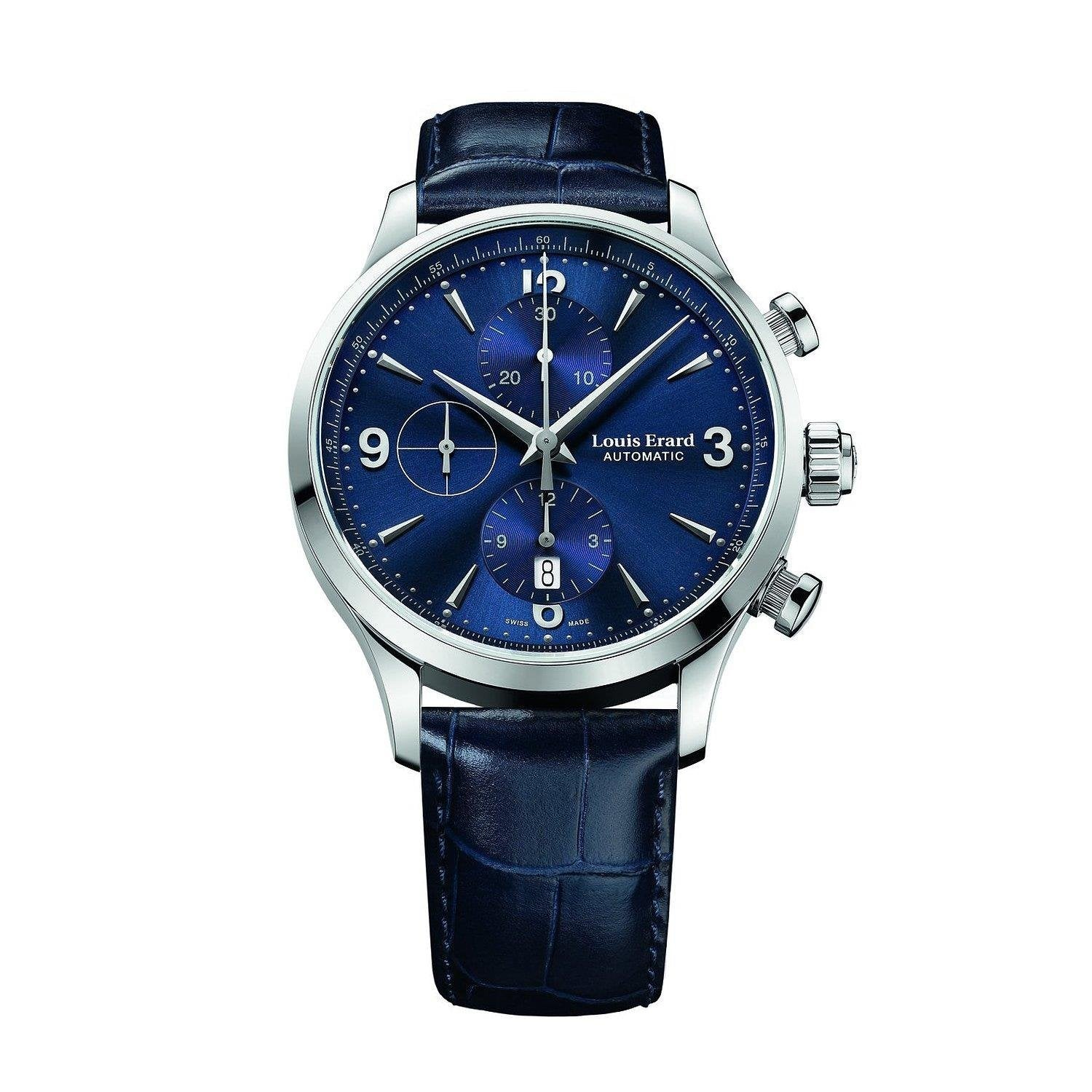 Louis Erard Heritage Collection Swiss Automatic Blue Dial Men's Watch 78225AA05.BDC37