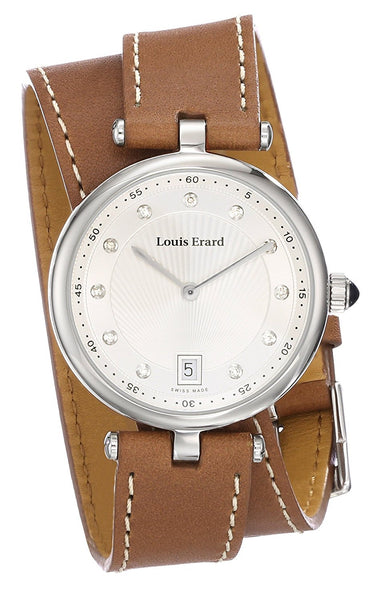 Louis Erard Women's 11810AA11.BRDT20 Romance Analog Display Quartz Brown Watch