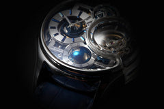 Memorigin Tourbillon Watches Imperial Stellar Silver Bitcoin Astronomia closeup 1