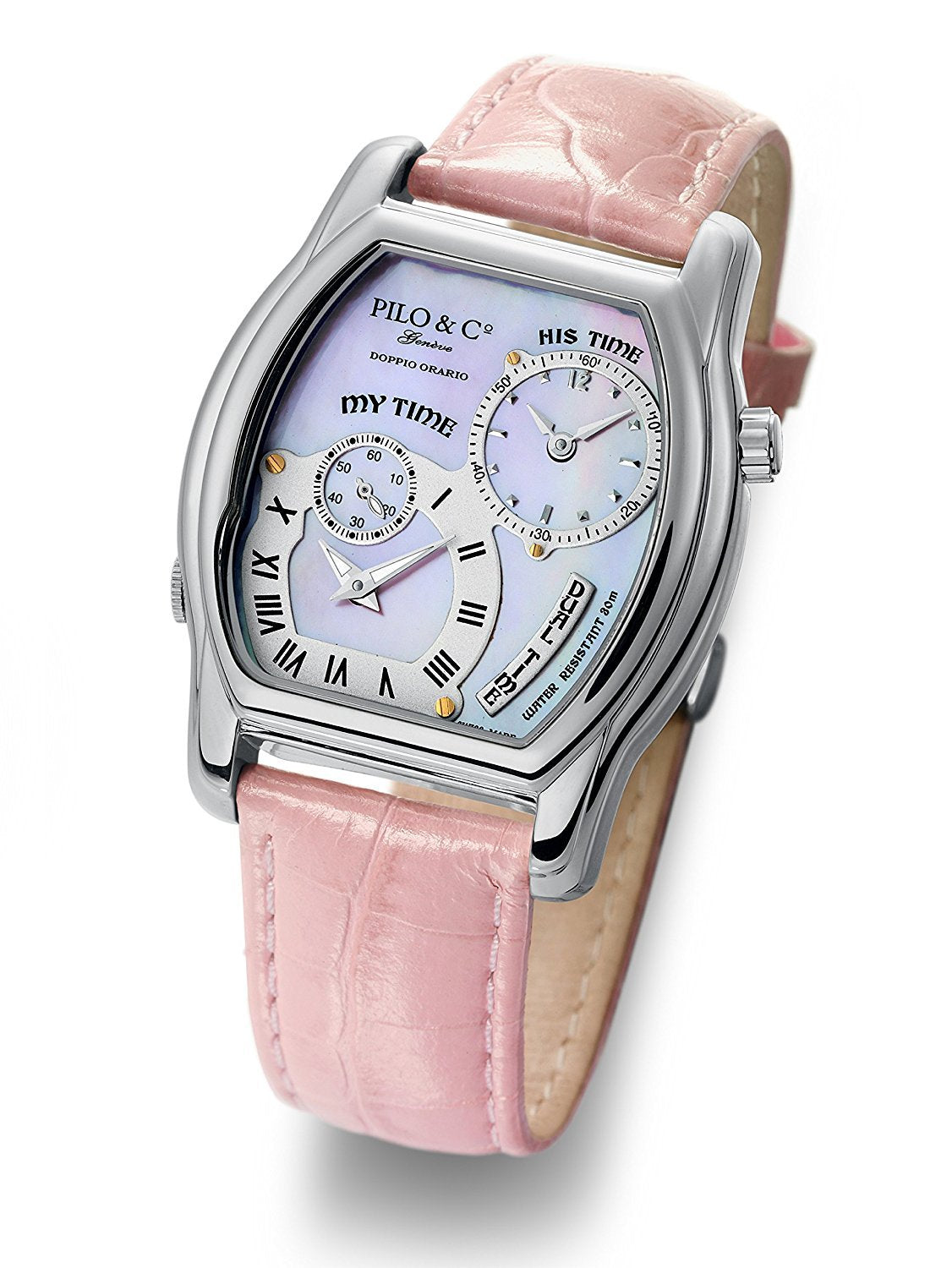 Pilo & Co Geneva Swiss Quartz Doppio Orario Women's Watch collection P0306DQS