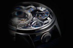 Memorigin Tourbillon Watches Imperial Stellar Silver Bitcoin Astronomia closeup 2