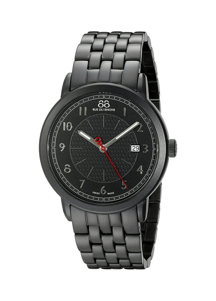 88 Rue du Rhone Men's 87WA120038 Analog Display Swiss Quartz Black Watch