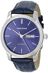 "Louis Erard Men's 72268AA15.BDC37 ""Heritage"" Stainless Steel and Leather Automatic Watch"