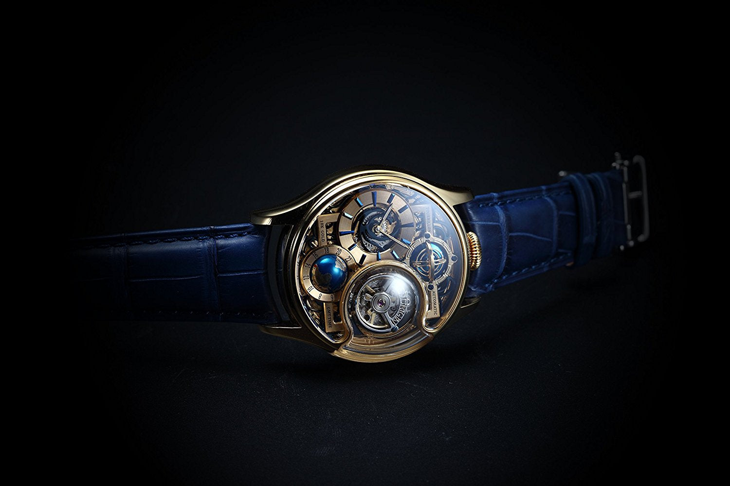 Memorigin Tourbillon Watches Imperial Stellar Gold Bitcoin Astronomia side