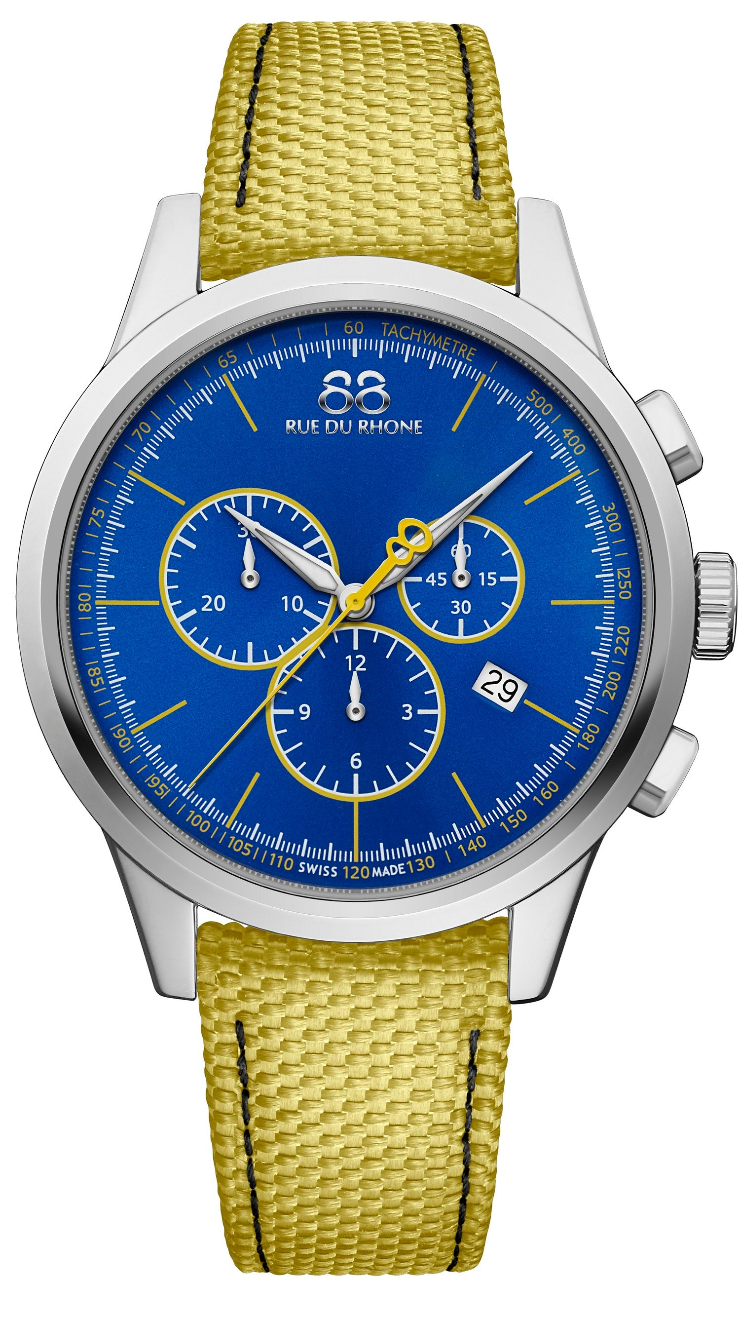 87WA184304 88 Rue du Rhone mens Swiss Watch Quartz Rive