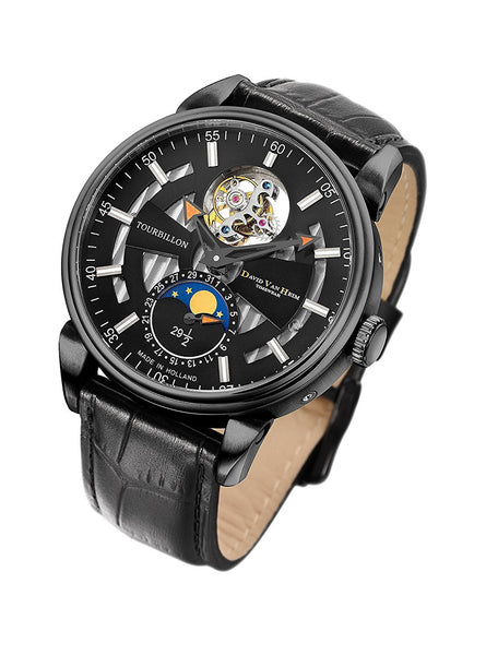 David Van Heim Swiss Mechanical Tourbillon Men's Watch T1 collection VH-300