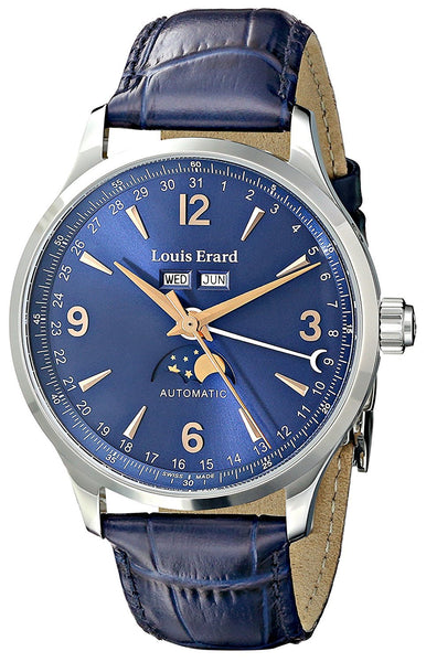 Louis Erard Men's 31218AA15.BDC37 1931 Analog Display Automatic Self Wind Blue Watch