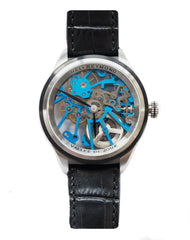 Heli Reymond Swiss Mechanical Skeleton Men's Watch Transparency Line T1012