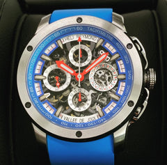 Winch Heli Reymond Swiss Automatic Chronograph Tachymeter  Men's watch Blue