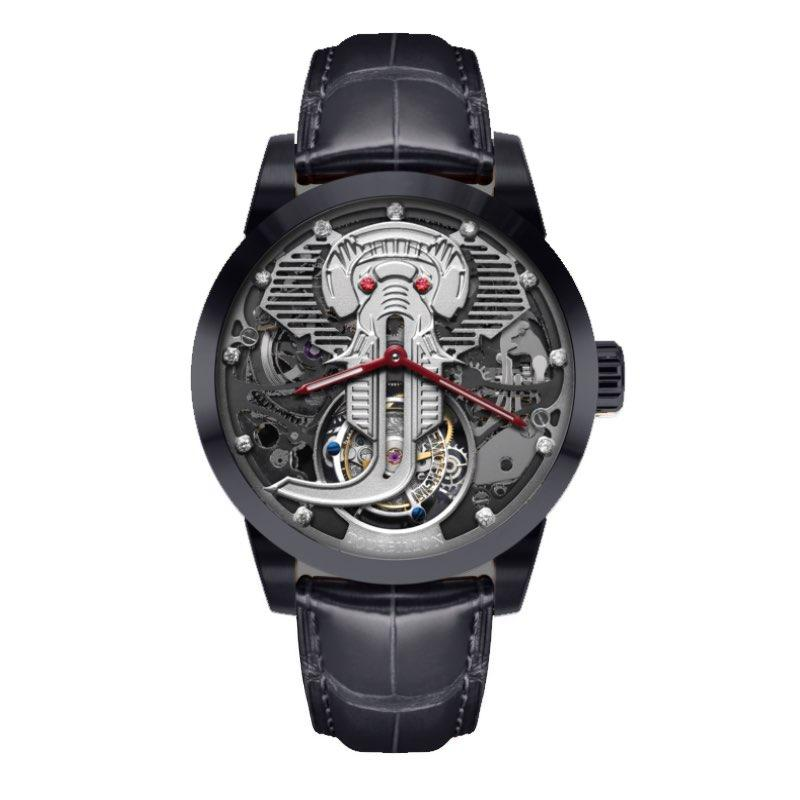 Memorigin Watch Tourbillon Jelephant Jackson Series Collector Limited Edition Black