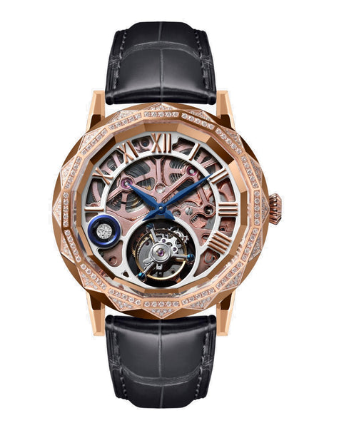 Memorigin Flying Tourbillon Chandelier Gold Watch