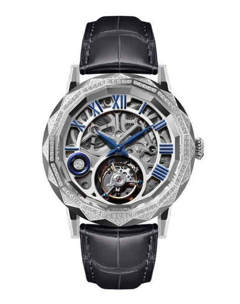 Memorigin Flying Tourbillon Chandelier Silver Watch