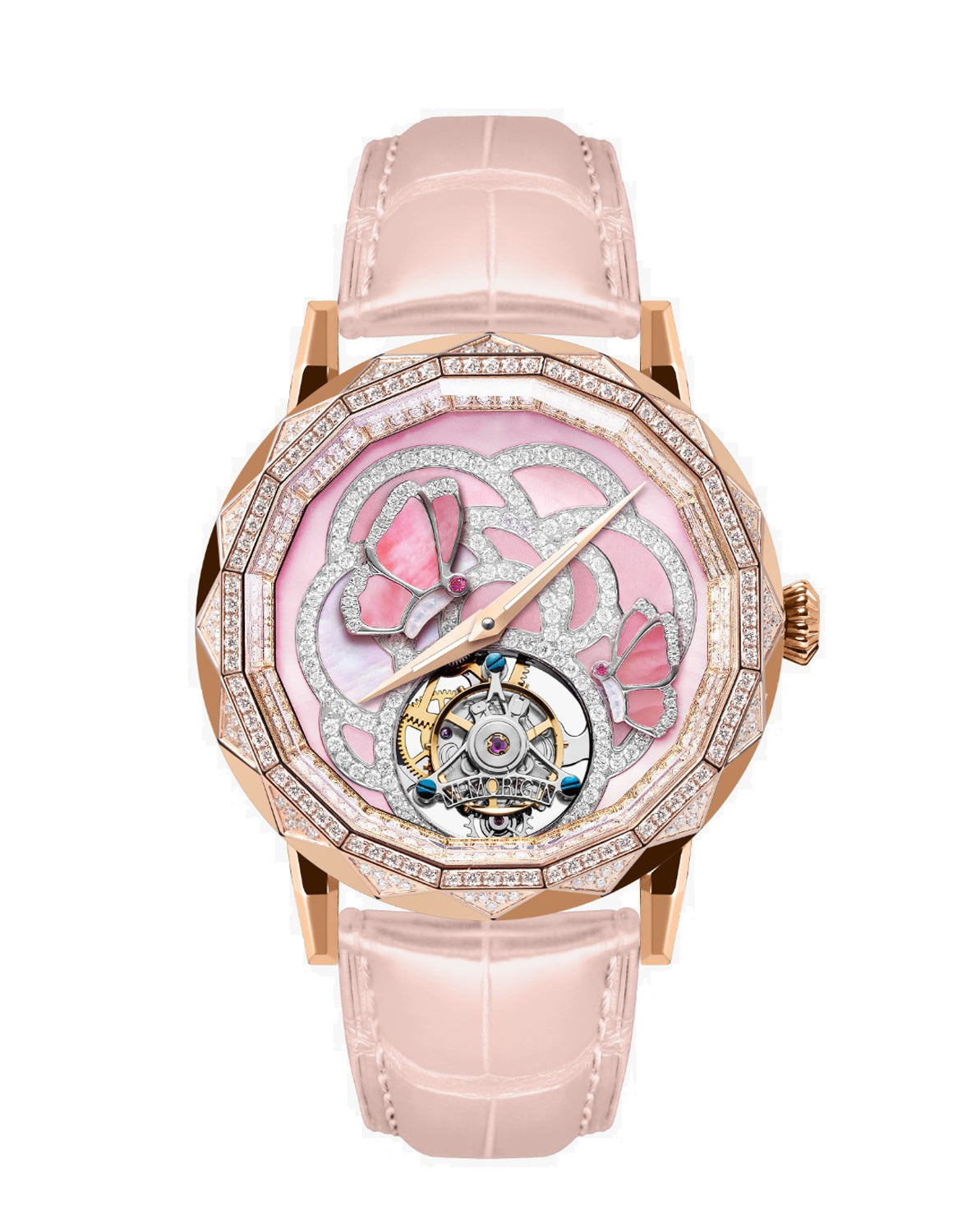Memorigin Flying Tourbillon Evolving Butterfly Pink Watch