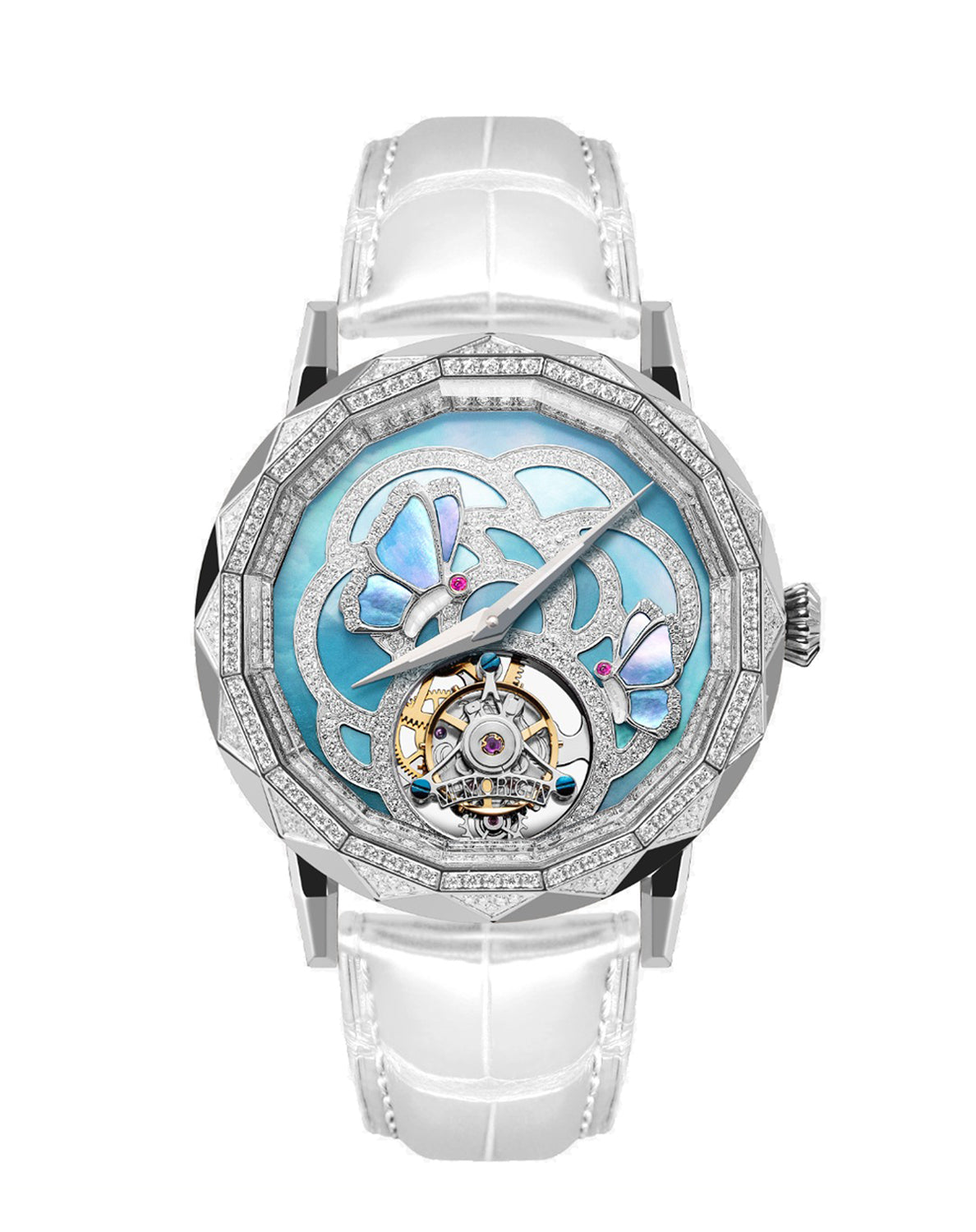 Memorigin Flying Tourbillon Evolving Butterfly Blue Watch