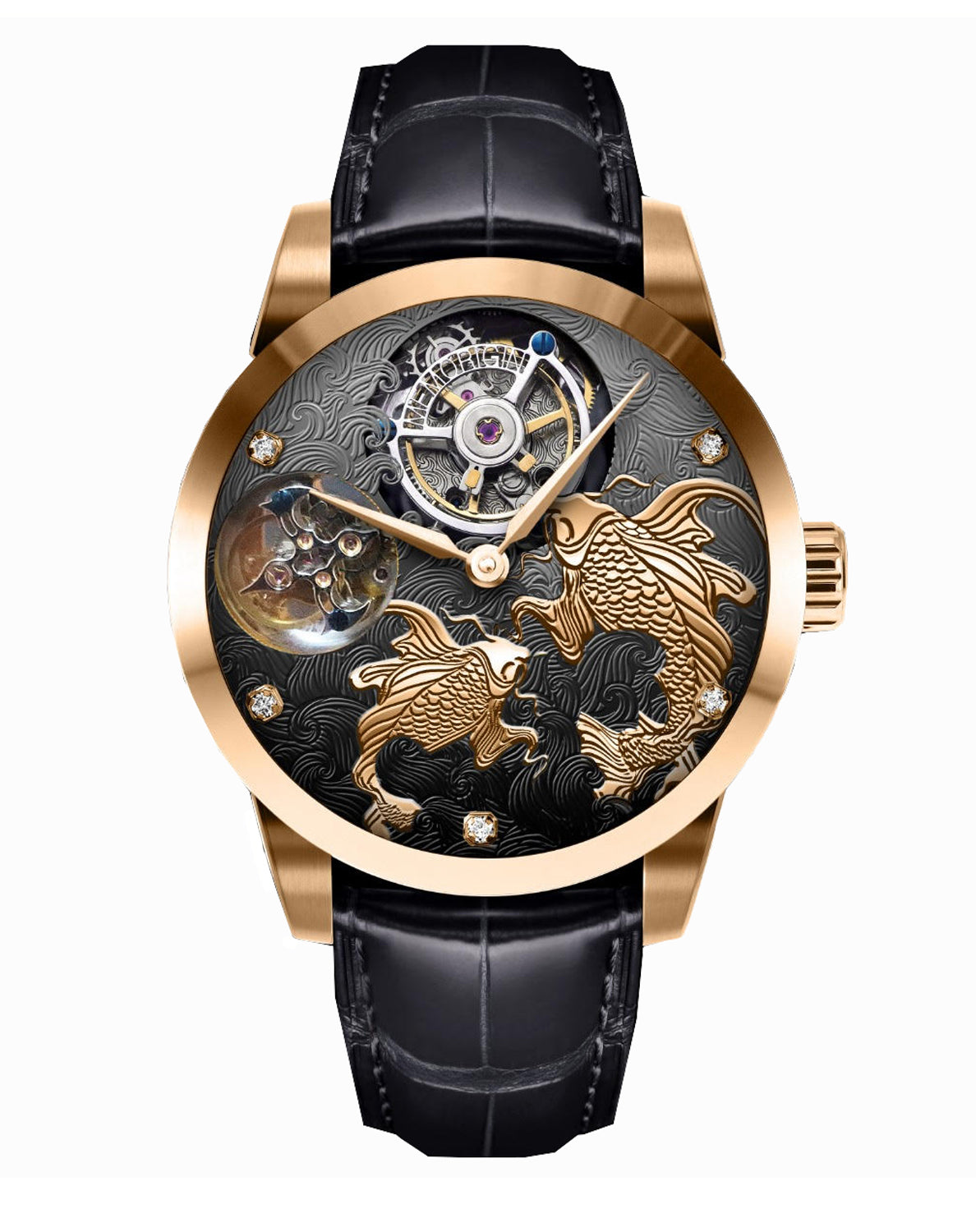Memorigin Flying Tourbillon Pisces and Pearls Watch