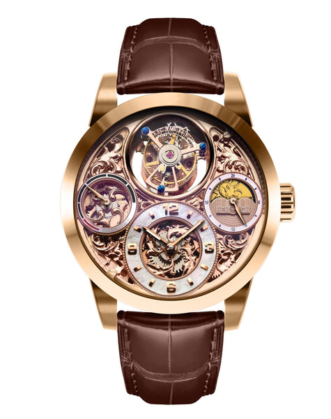 Men's Memorigin MO1231 Imperial Rose Gold Tourbillon Watch