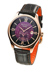 Pilo & Co Geneva Swiss Quartz Montecristo Men's Watch collection Purple
