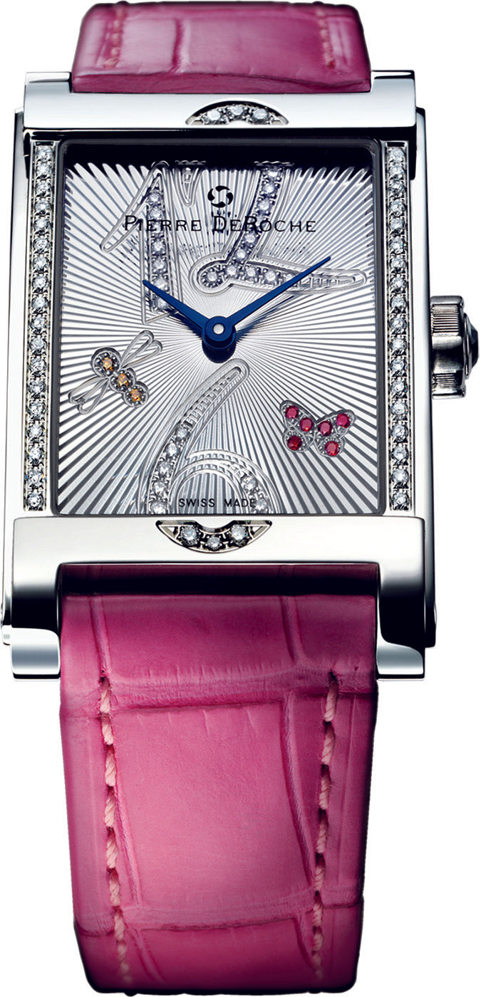 Pierre De Roche Shiny Pebbles Butterfly Watch