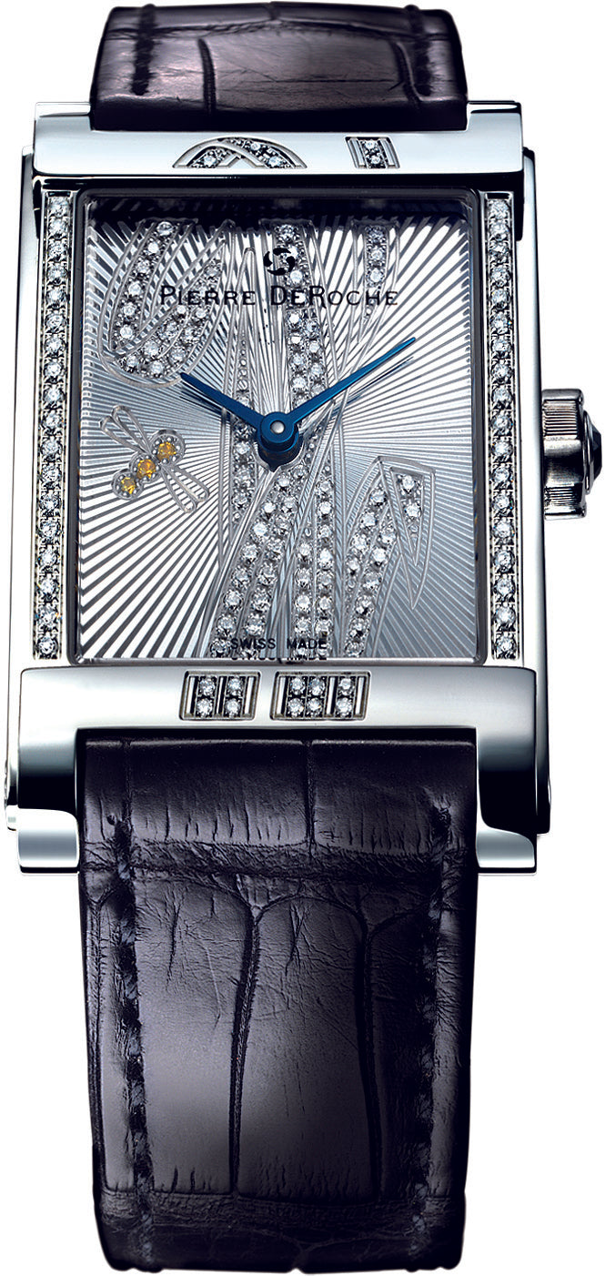 Pierre De Roche Shiny Pebbles Dragonfly Watch