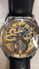 Zodiac Snake Memorigin Tourbillon Watch closeup