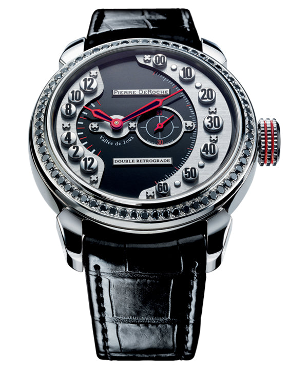 Pierre De Roche Grandcliff Skyscrapers Black diamonds Watch
