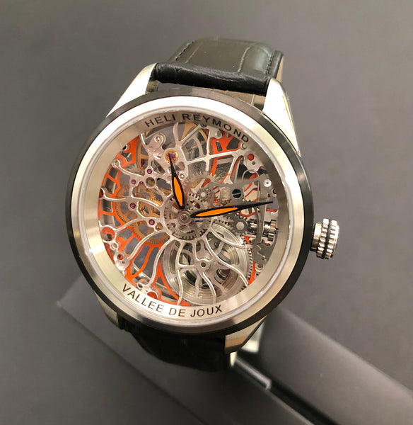Swiss watch Hello Raymond Orange Skeleton