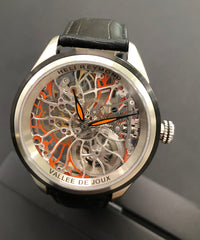 Heli Reymond Swiss Mechanical Skeleton Men's Watch Transparency Line T5011O