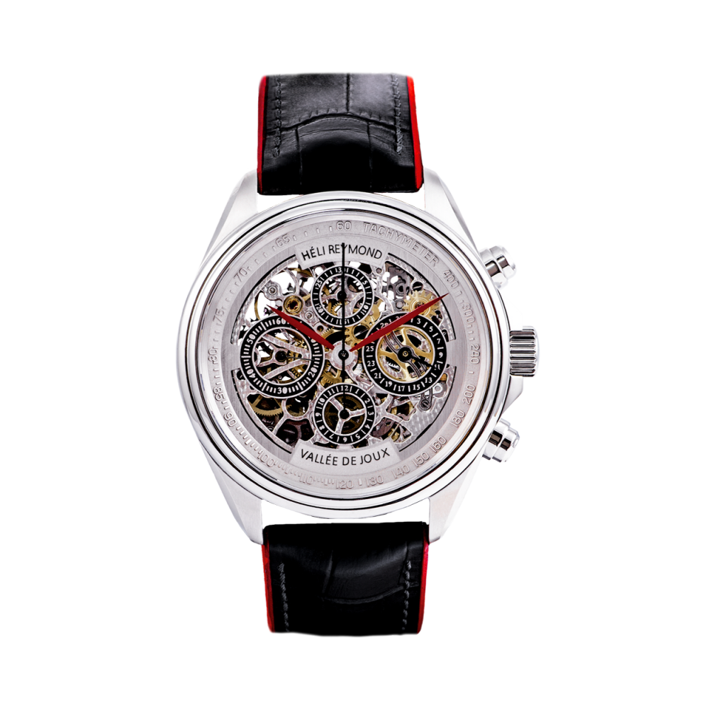 T4013 Heli Reymond Mens Swiss Watch Automatic Skeleton Transparency