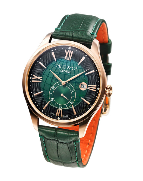 Pilo & Co Geneva Swiss Quartz Montecristo Men's Watch collection Green